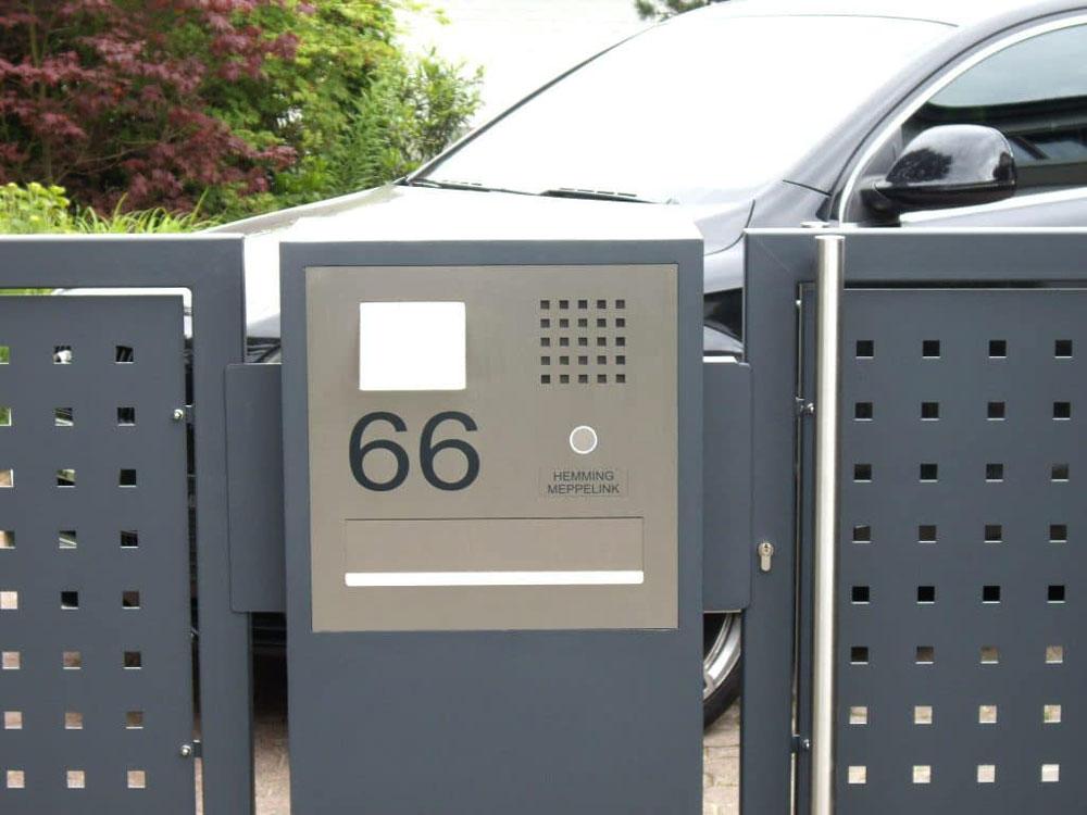 Türsprechanlage Briefeinwurf Hausnummer stainless steel Audio Sprechstelle