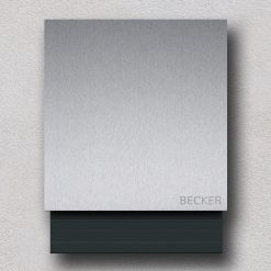 letterbox stainless steel anthracite newspaper compartment Namensbeschriftung Wandmontage