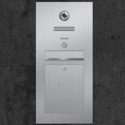 letterbox stainless steel Gira Klingeltaster Beschriftung flush-mount