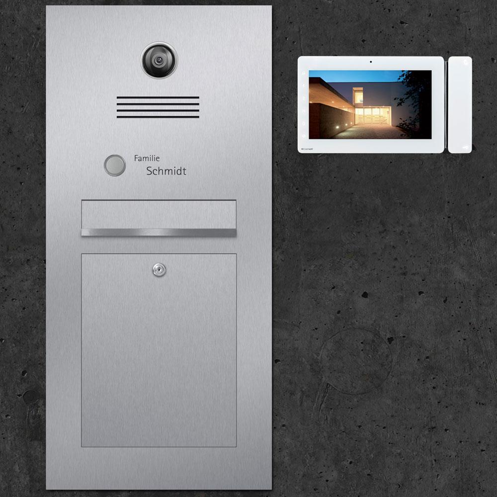Türsprechanlage letterbox stainless steel Video Kamera Innensprechstelle Briefeinwurf