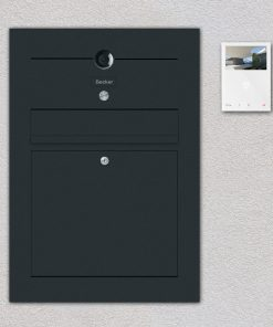 letterbox anthracite Video Kamera anthracite flush-mount Beschriftung