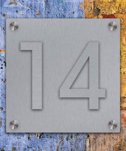 stainless steel Hausnummer Aufgesetzt