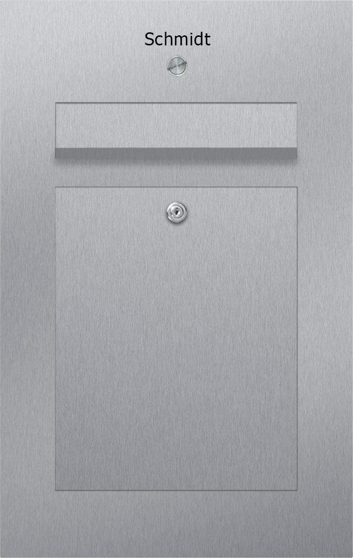letterbox stainless steel Briefeinwurf Klingel Beschriftung