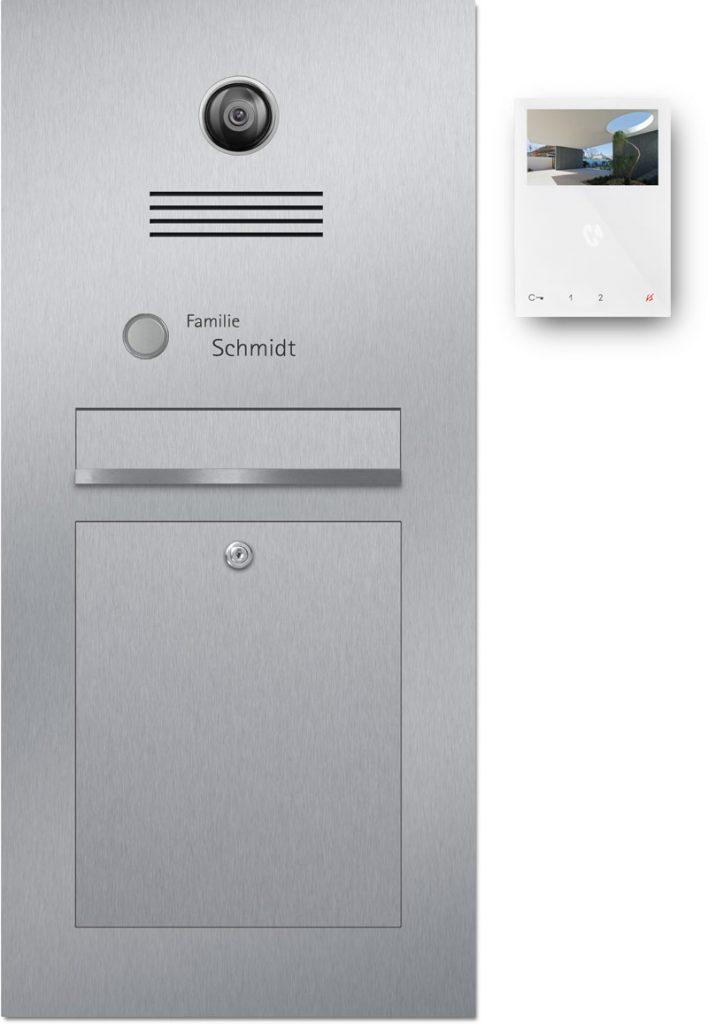 Türsprechanlage stainless steel Konfigurator Kamera Beschriftung Klingel