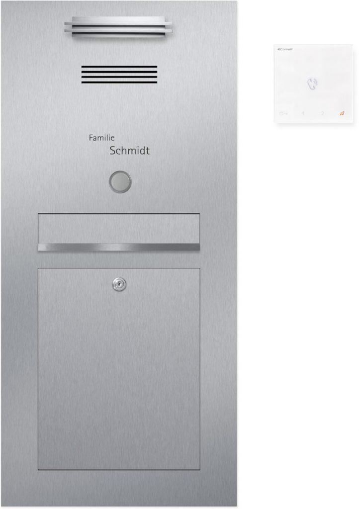 Türsprechanlage stainless steel Konfigurator Beschriftung Klingel LED