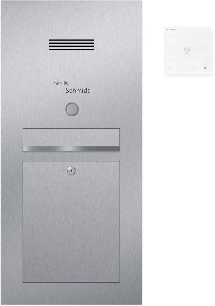 Türsprechanlage stainless steel Konfigurator Beschriftung Klingel