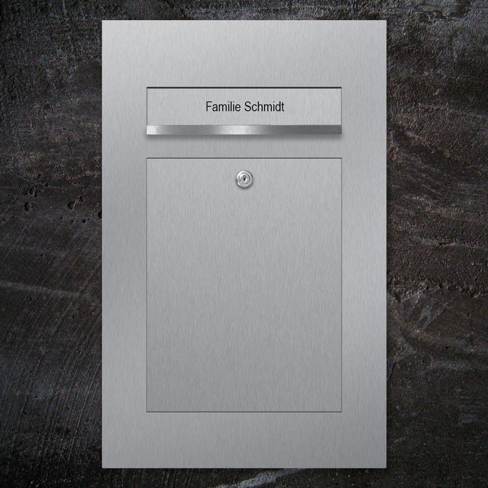 letterbox stainless steel flush-mount Beschriftung - B3 - Beschriftung Klappe