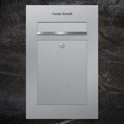letterbox stainless steel flush-mount Beschriftung