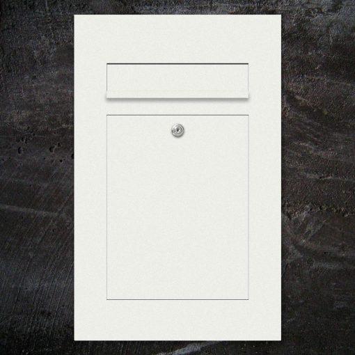 letterbox mit Einwurf - Farbe weiss