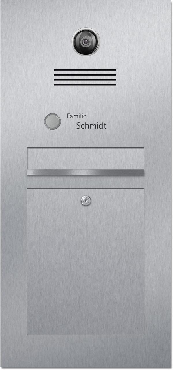 Türsprechanlage stainless steel Kamera Konfigurator Beschriftung Klingel