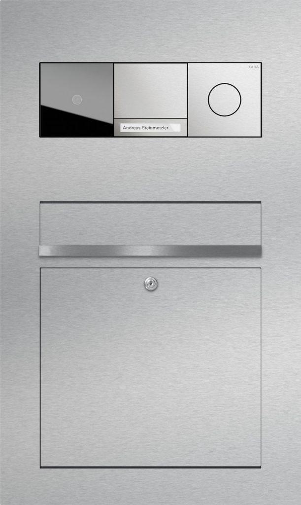 Türsprechanlage stainless steel Video Gira 106 Konfigurator Beschriftung Klingel
