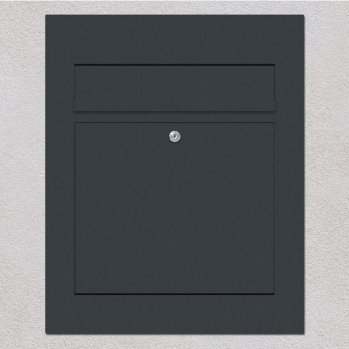 letterbox stainless steel anthracite flush-mount