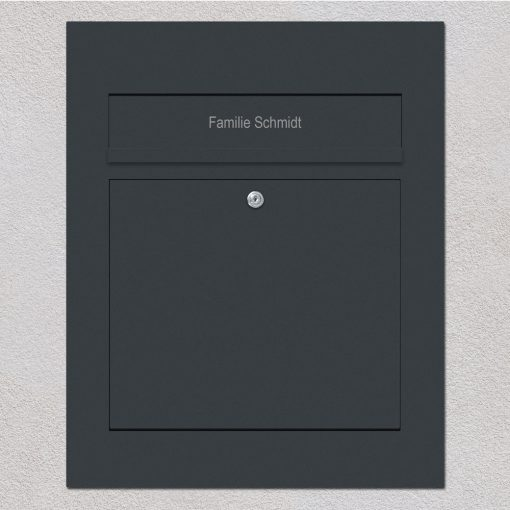letterbox stainless steel anthracite flush-mount Beschriftung