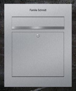 letterbox stainless steel flush-mount Beschriftung