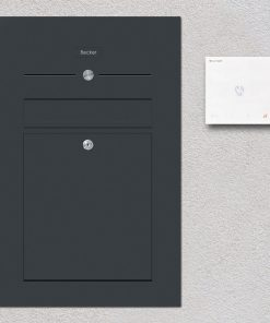 letterbox stainless steel anthracite flush-mount Audiosprechstelle