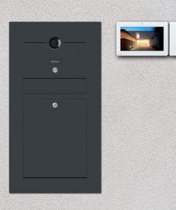 letterbox anthrazit Türsprechanlage Videosprechanlage
