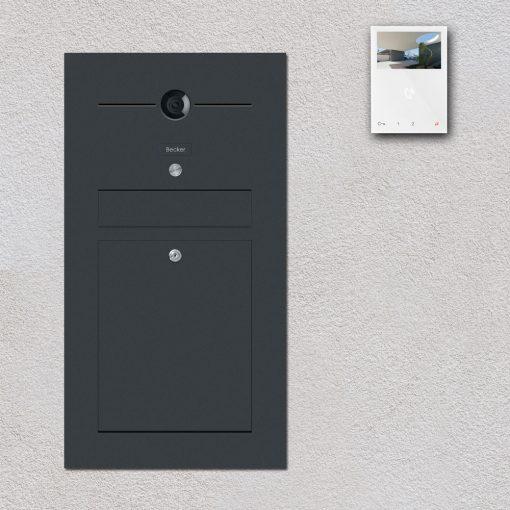 letterbox anthrazit Türsprechanlage Videosprechanlage Gegensprechanlage Wlan